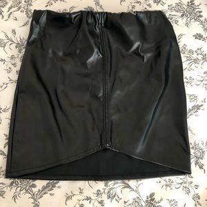 Pretty Little Thing Pleather Skirt